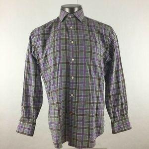 Thomas Dean & Co Shirt Button Down Front